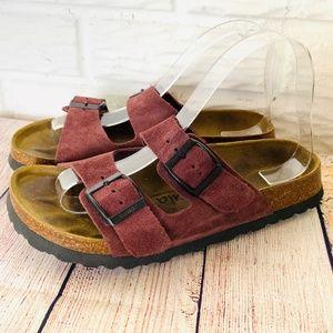 Betula Birkenstock Sandals 240 Maroon Size 37